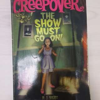 creepover; the show must go on   pj night