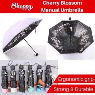 Ready SG-Anti UV/sun block/protection/hot/wet/raining/Cherry Blossom Umbrella