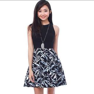Fairebelle FB Twinning Printed Dress - Abstract Black
