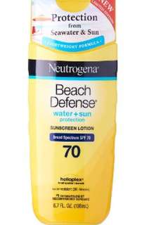 Neutrogena Beach Defense Water+Sun Protection Sunscreen Lotion SPF70