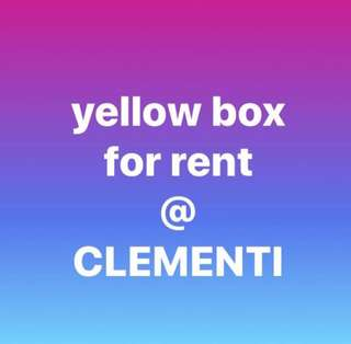 Cheapest in town !!! Yellow box and storage for rent