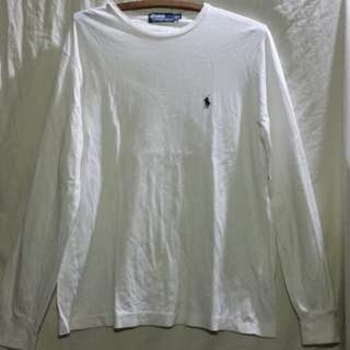 *SALE Polo By ralph lauren white longsleeve size medium