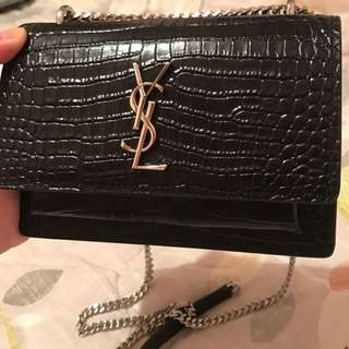 Ysl Sunset Bag Mini Saint Laurent Croc Sunset Bag