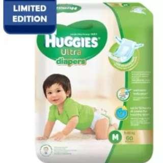 Huggies Ultra Diapers M60 Super Jumbo (3 Pack)