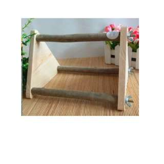 Bird Stand / Training Station of natural unprocessed wood - 30 cm long