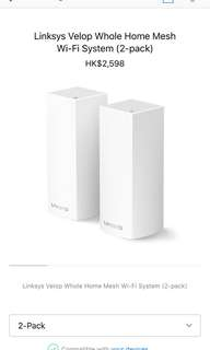 Linksys Velop Whole Home Mesh Wifi System