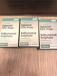 Salamol CFC-Free Inhaler 100 micrograms ( 哮喘噴霧)