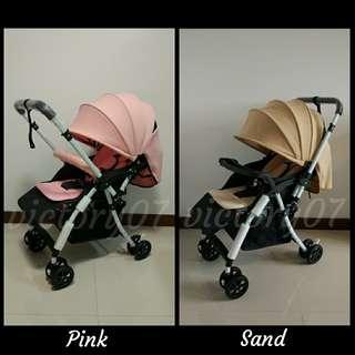 BN Lightweight Easy Close Baby Stroller/Sand colour left