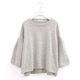 Lovfee 微甜袖打折寬袖針織毛衣