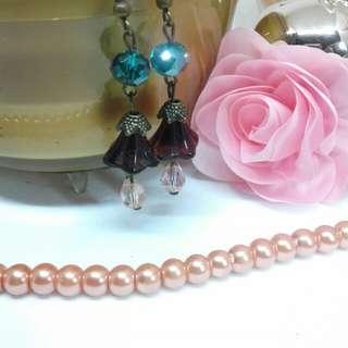 Vintage Trumpet Flower Earrings-Handmade