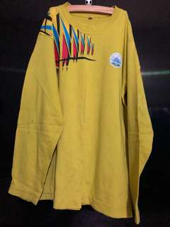 yellow school sport long sleeve tshirt can use as daily attire at home