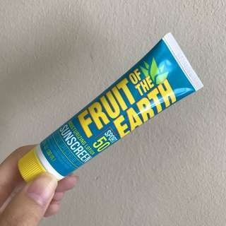 Fruit of the earth Moisturizing Lotion sunscreen