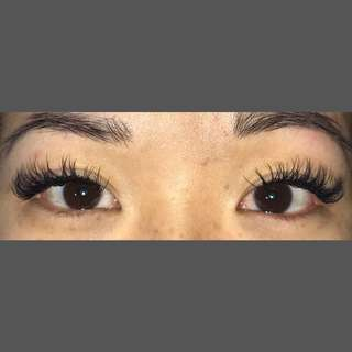 Lash extensions and brows
