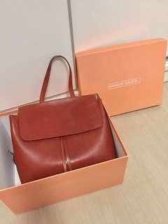 Mansur Graviel Brandy/Brick Vegetable Tanned Leather Bag 性格 氣質 復古包