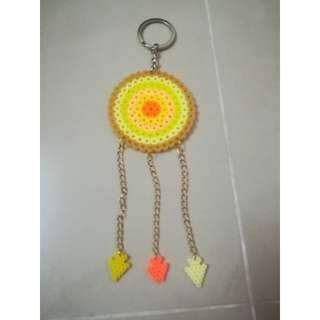 Yellow dream catches keychain