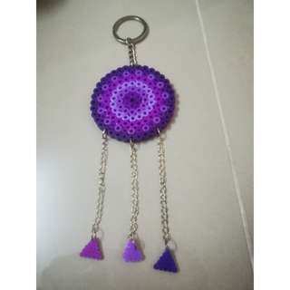 Purple Dream Catcher keychain