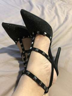 Sexy black party shoes