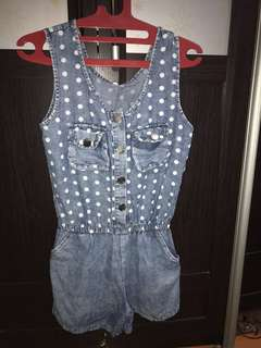 denim button jumpsuit