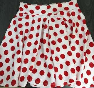 Polka Dot Mini Skirt #Bajet20