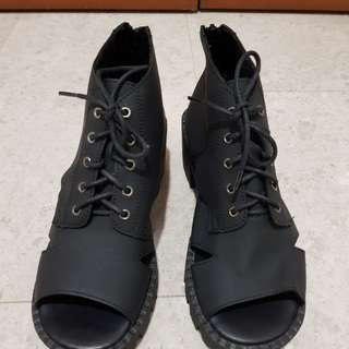 Brand new open toe boots from Taiwan