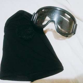 Goggles and fullface mask for sale