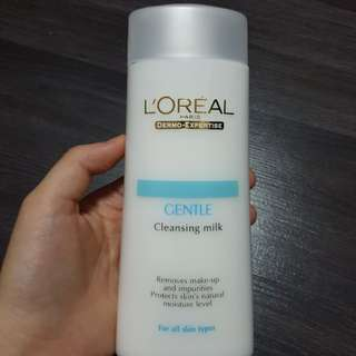 Loreal Paris Gentle Cleasing Milk | removes makeup and impurities
