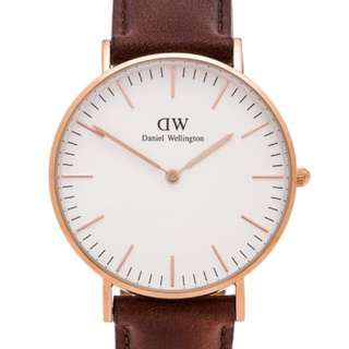 Daniel Wellington St Maves leather rose 36mm St Andrew