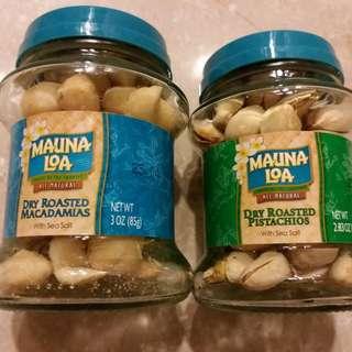 全新美國Mauna Loa樽裝果仁2樽