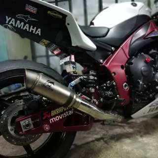 Thanks for sabah r1 biker choose raven muffler These is 61mm muffler only rm350 Wasap 0126135416 or pm Serious buyer are welcome Readystock readypos :)