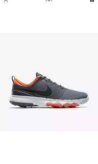 BRAND NEW Nike Golf Fi Impact 2 size 7 Grey / Orange Shoes