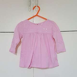 Baby pink long sleeves top