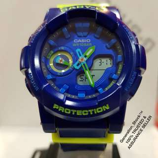 RARE💝SEEN CASIO BABYG :  Assurance with 1-YEAR OFFICIAL VALID WARRANTY: 100% Originally Authentic BABY-G Shock Resistant Absolutely Toughness Stealth Matt Watch Best Surprise Gift For Love Ones & Especially Fir Most Rough Users & Unisex : BGA-185FS-2ADR