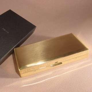全新日版 名廠PEARL Cigarette case 煙盒Made in Japan 金色 1-28126-41