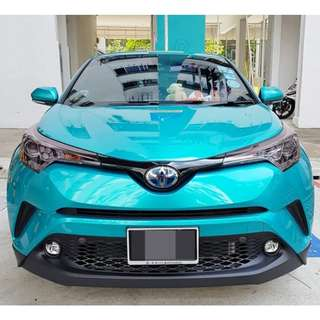 Installation Of Invisible Car Door Edge Bumper Guard Protector Service Done On Toyota C-HR