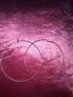 Forever 21 big gold loop earrings