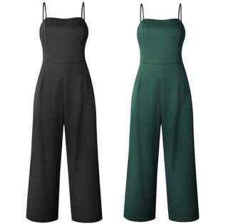 [PRE-ORDER] JUMPSUIT ROMPER STRAPLESS CLUB WOMEN LONG SOLID CASUAL PARTY