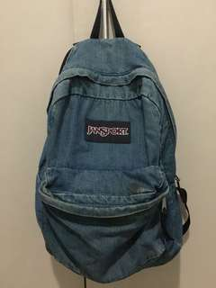 Authentic Jansport Backpack in Denim