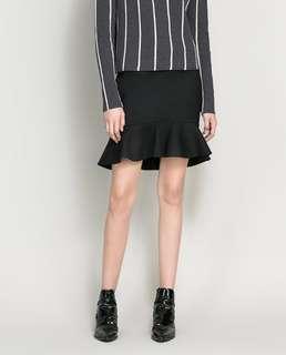 Zara Ribbed Knit Trumpet Skirt