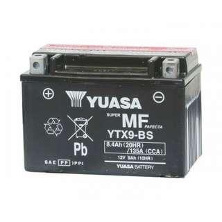 Yuasa YTX9-BS Motorcycle Battery