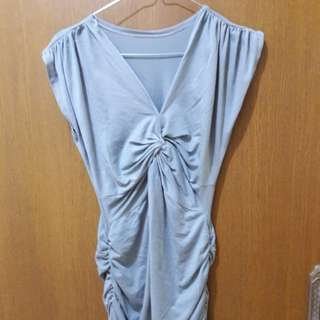 Preloved Mini Dress Abu Fit to L Mat Kaos Katun