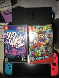 Nintendo Switch Set - Mario Odyssey Just Dance 2018