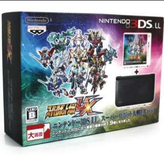 3DS LL Super Robot Wars UX Limited Edition With Suprt Robot Wars Game