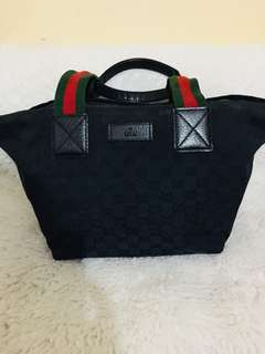 Authentic Gucci Web Boat Bag