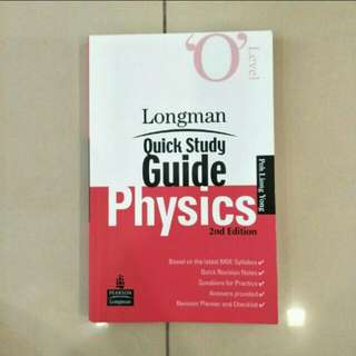 O Level Pure Physics Quick Study Guide Revision Handbook (Pearson: Longman)