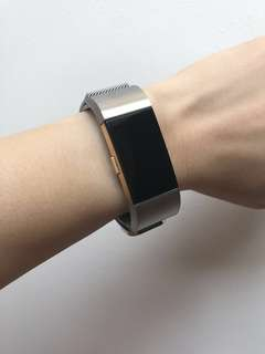 Fitbit Charge 2 Silver Milanese Stainless Steel Mesh Straps