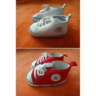 Baby Pre Walker Shoes Sneakers Converse Red White