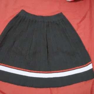 針織學院風短裙