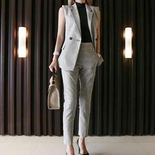 2 pc Tailored Vest and pants suit set