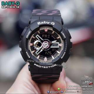 NEW🌟ARRIVAL CASIO BABYG WATCH: 1-YEAR OFFICIAL WARRANTY: 100% Originally Authentic BABY-G-SHOCK Resistant In BLACK with ROSE-GOLD COLOUR ABSOLUTELY TOUGHNESS Best Gift For Most Rough Users & Unisex : BA-110CH-3ADR / BA-110 / BA110CH