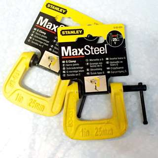 NEW! Stanley MaxSteel C Clamp (1 Inch)